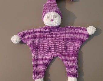 Blanket hand knitted Pixie