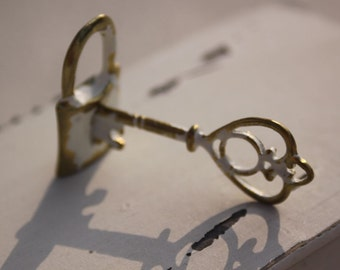 The vintage key and lock