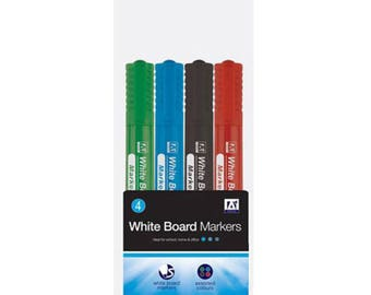 Anker 4 Colour Pack of Dry-Wipe Whiteboard Markers (WHI/1060)