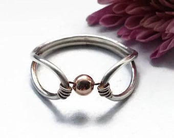 Fidget Ring, Spinner Ring for Women, Meditation Ring, Anxiety, Minimalist Ring, Sterling Silver, Rose Gold, Gold, Unique Ring, Worry Ring
