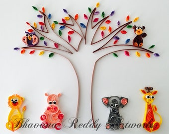 Quilled Art - In the Jungle