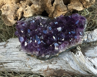 "Amethyst Crystal Cluster 4 1/4"" Dark Purple Brazil"