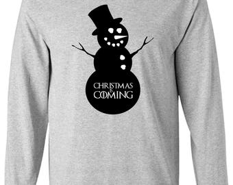 Game of Thrones Inspired Long Sleeve Christmas is Coming Shirt