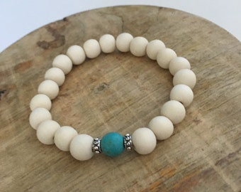 Seashell Jewelry ... Boho Yoga Beaded Bracelet  (1570)