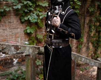 Dishonored 2 Corvo Attano cosplay costume from the Dishonored videogame, Dishonoured Pc Game series steampunk outfit, Halloween costume