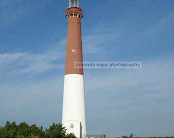 "Barnegat Light House ""Old Barney"" color photograph"