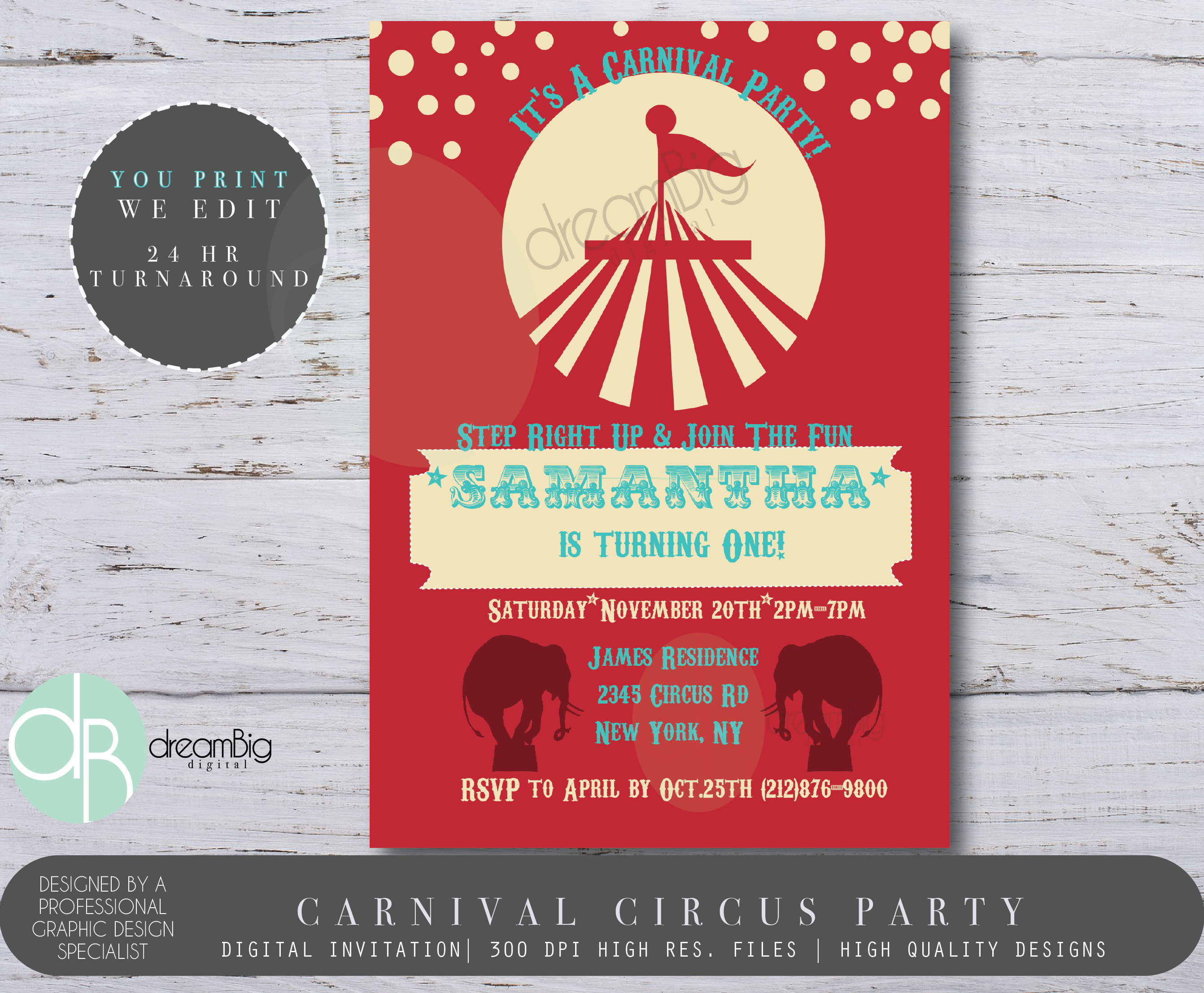 Carnival Invitations Circus Invitations Carnival Party
