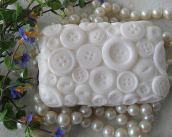 Button Soap Handcrafted Aloe & Olive Oil Soap on SALE