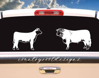 Hereford Decal, Hereford Heifer, Hereford Bull, Stock Show Life, Tumbler Decal, Car Decal, FFA, Farmer, 4-H, Laptop Decal, Cow, Decal