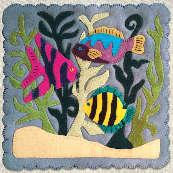 pattern tropical fish pattern of the month wool applique quilt