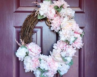 "Pretty Pastels Spring Wreath (18"")"