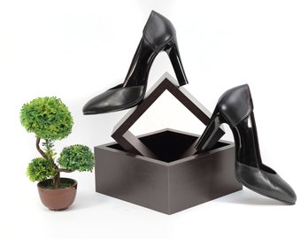 Black leather high-heeled shoes, High heels women shoes, Black high heels, Black official high heels, Pumps, Black Pumps
