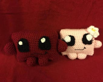 Super Meatboy and Band-aid Girl Plushie