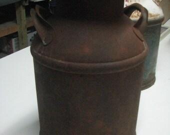 Vintage Milk can, Garden Decor, Flower pot, Cream Can