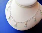 Aquamarine Dangles with P...