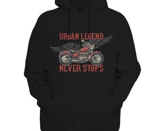 Urban Legend Never Stop - Moto Hoodie Motorcycle Hoodie, Biker Hoodie