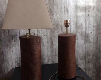 Table lamps (set) Dutch hardwood