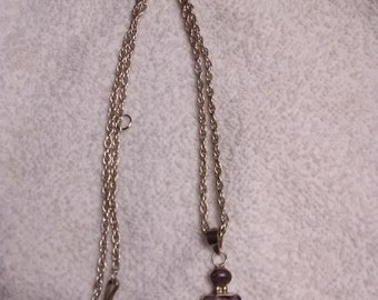 950 Necklace With Purple Amulet