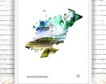 Fanad Lighthouse,Fanad,Co Donegal,Thewildatlanticway,Ireland Print,Irish landscape,Lough swilly,wall art,wall decor