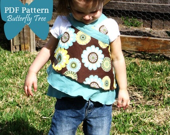 Butterfly Wrap Skirt Sewing Pattern - Wear as skirt, shirt or dress - PDF