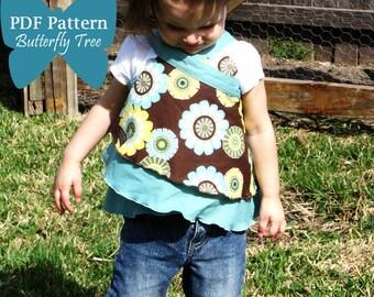 Butterfly Wrap Skirt Sewing Pattern - Wear as skirt, shirt or dress - PDF