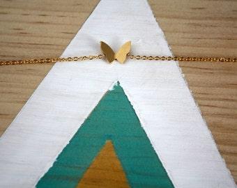 Bracelet Papillon en métal Couleur Doré | Bijou romantique | Très jolie idée cadeau pour fille | A porter pour noel et anniversaire
