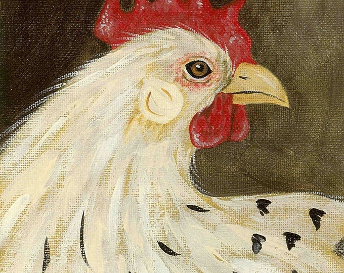 Pretty Spring Chicken blank greeting card