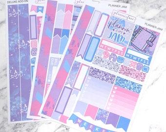 Planner Jam | Mini Planner Sticker Kit, Personal Kit, TN Stickers, Planning, Washi Tape, Tassel, Planner Charm, Kawaii, Pastel, Pink, Purple