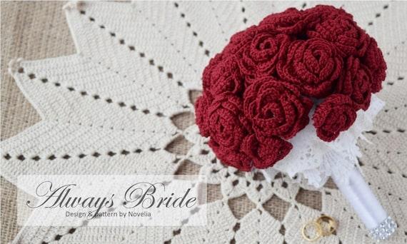 Pattern Crochet Wedding Flower Bouquet Pattern And Tutorial