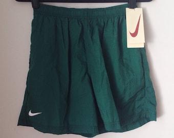 Deadstock Nike Hunter Green Athletic Shorts Boys Size Extra Large