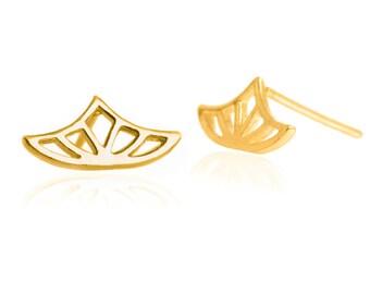 Gold empress earing,gold earing,sacred geomatry earing,queen earing, princess gold earing,lotus earing,crown chakra earing,fariy gold earing