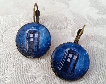 Various Earrings Doctor Who, Tardis, blue box, Dalek, Exxterminate