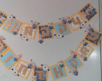 Minions/big custom Birthday Banner/personalized/Candy bar banner
