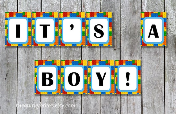 Toy Building Blocks Theme Its A Boy Baby Shower Baby