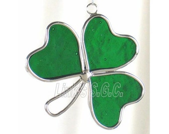 Stained Glass Clover Leaf Sun Catcher