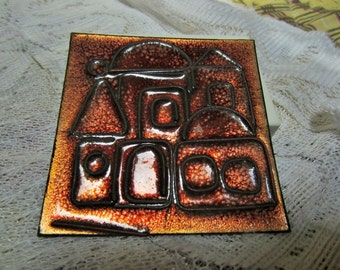 Old City of Jerusalem Copper Plaque Souvenir Collectibles Wall Decor