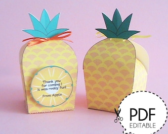 Pineapple Favor Box–Printable PDF Download