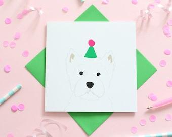 Birthday Westie Card