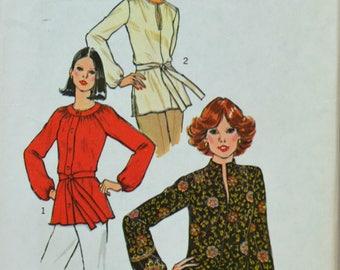 Uncut 1970s Simplicity Vintage Sewing Pattern 7892, Size 14; Misses' Tops
