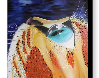 Surreal Space Cat Oil Painting, Surrealism, Curiosity, Hidden Images Painting, Orange Cat Art, Cool Cat Art, Wall Art, Fine Art, Painting