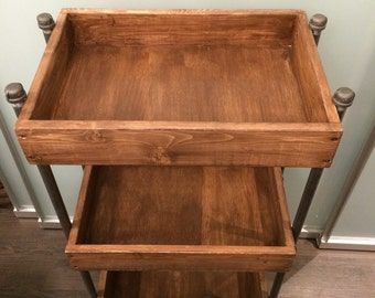 Industrial Supply Cart (3FT-Coffee Finish shown)