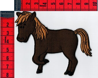 Brown pony patch iron or sew. Patch applique