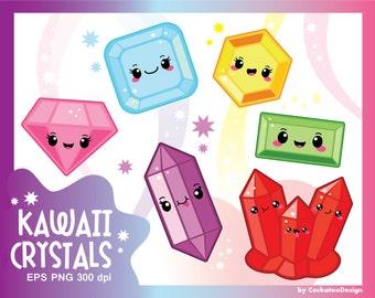 30% OFF, Kawaii clipart, gems clipart, crystal clipart, gemstone clipart, diamond clipart, gems clip art, kawaii clip art, Commercial