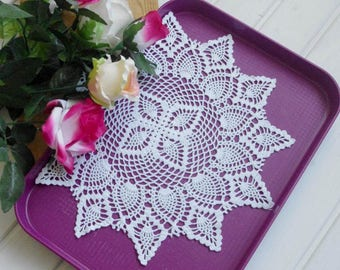 Large pineapple crochet doily Pineapple lace doilies Crochet centerpiece Pineapple doilies Crochet decor Lace decor 395