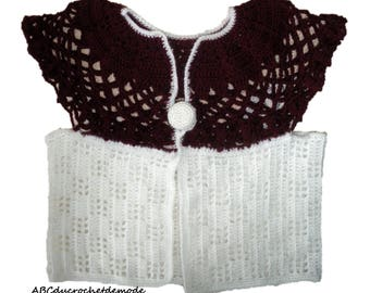 Vest/pullover/sweater/knit/overcoat Butterfly original and unique baby crochet