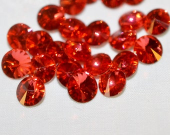 12 pieces 1122 Padparadscha 8mm (39ss) Swarovski Crystal Rivolis