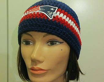 New England Patriots Adults Size Beanie - Superbowl Beanie