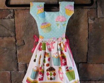 Sparkly Cupcakes Oven Door Towel Dress