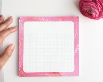 Notepad Pink, Notepads, to do list notepad, tear off, shopping list, grocery list, daily to do list, memo pad, memopads, get shit done