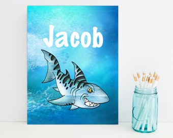 Shark Personalized Folder, School Supplies, Back to School, Monogrammed Folder, Custom Pocket Folder